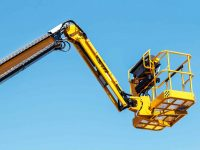 boom and basket of auto hydraulic receiver for construction and repair works